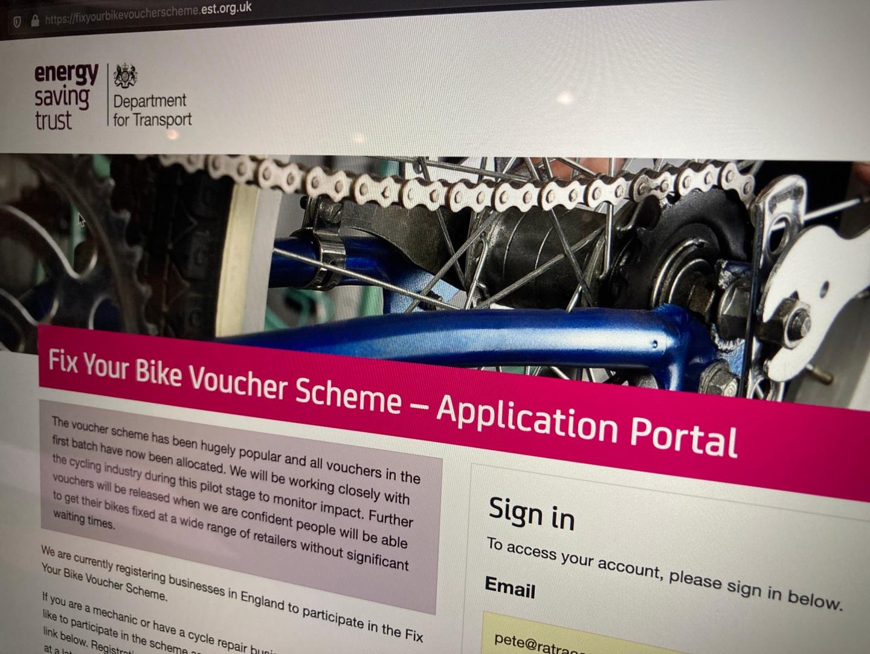 Header image of EST voucher page